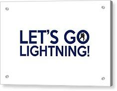 Let's Go Lightning Acrylic Print