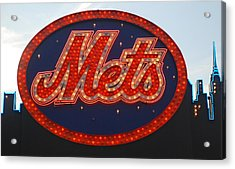 Lets Go Mets Acrylic Print by Richard Bryce and Family