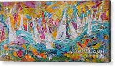 Lets Go Sailing Acrylic Print by Lyn Olsen