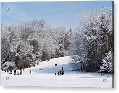 Lets Go Sledding Acrylic Print by Margie Avellino