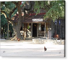 Let's Go To Luckenbach Texas Acrylic Print