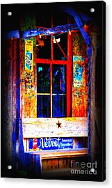 Let's Go To Luckenbach Texas Acrylic Print by Susanne Van Hulst