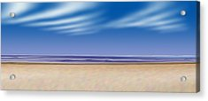 Acrylic Print featuring the digital art Let's Go To The Beach by Saad Hasnain
