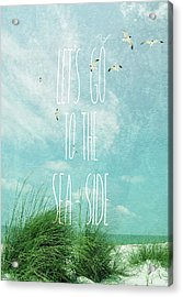 Acrylic Print featuring the photograph Let's Go To The Sea-side by Jan Amiss Photography