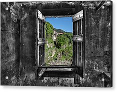 Acrylic Print featuring the photograph Let's Open The Windows - Apriamo Le Finestre by Enrico Pelos