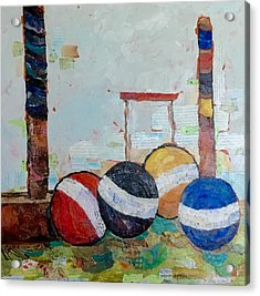 Let's Play Croquet Acrylic Print