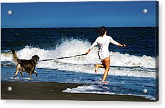 Let's Play In The Water Acrylic Print