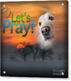Acrylic Print featuring the digital art Let's Pray by Kathy Tarochione