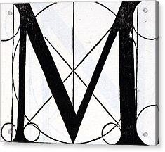 Letter M Acrylic Print