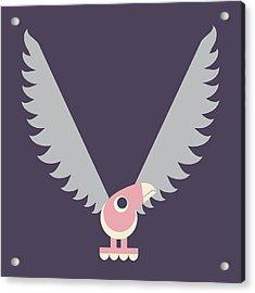 Letter V - Animal Alphabet - Vulture Monogram Acrylic Print
