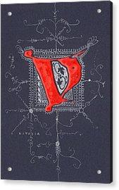 Letter V Acrylic Print by Kristine Jansone