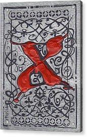 Letter X Acrylic Print by Kristine Jansone