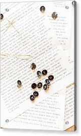 Letters Acrylic Print