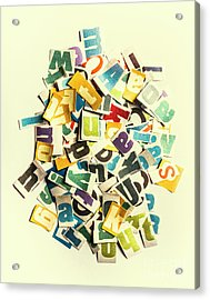 Letters In Jumble Acrylic Print