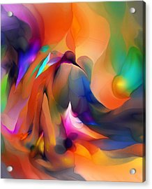 Letting Go Acrylic Print by David Lane