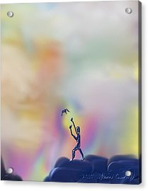 Acrylic Print featuring the painting Letting Go by Kevin Caudill