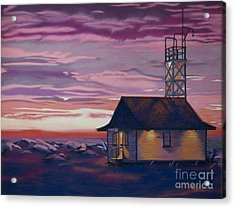 Leuty Life Guard House Acrylic Print by Tracy L Teeter