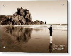 Acrylic Print featuring the photograph Lev And The Lion Rock  by Yurix Sardinelly