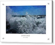 Acrylic Print featuring the digital art Levant Spray by Julian Perry