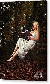 Levitation With Book Acrylic Print