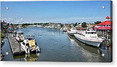 Acrylic Print featuring the photograph Lewes Delaware by Brendan Reals