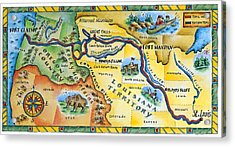 Lewis & Clark Expedition Map Acrylic Print by Jennifer Thermes