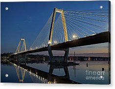 Acrylic Print featuring the photograph Lewis And Clark Bridge - D009999 by Daniel Dempster