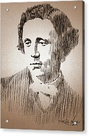 Lewis Carroll Acrylic Print by Robbi  Musser