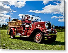 Lewiston Fire Truck Acrylic Print by Gary Smith