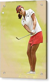 Lexi Thompson Chips To The First Green  Acrylic Print