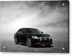 Acrylic Print featuring the digital art Lexus Gs350 F Sport by Peter Chilelli