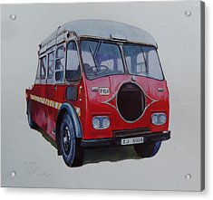 Acrylic Print featuring the painting Leyland Wrecker Cie by Mike Jeffries
