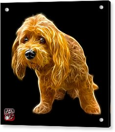 Acrylic Print featuring the painting Lhasa Apso Pop Art - 5331 - Bb by James Ahn