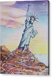 Liberty Abandon Acrylic Print by Donovan Hubbard