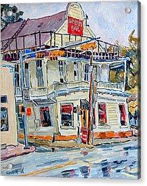 Liberty Bar In San Antonio. Rainy Day. Acrylic Print by Vitali Komarov
