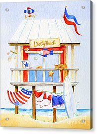 Liberty Beach Acrylic Print by Laura Nikiel