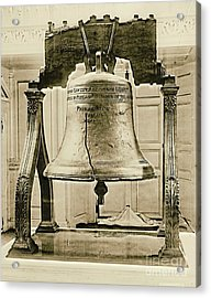 Liberty Bell At Independence Hall 1901 Acrylic Print by Padre Art