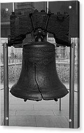 Liberty Bell Bw Acrylic Print by Chris Flees