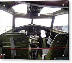 Liberty Belle B17 Cockpit Acrylic Print