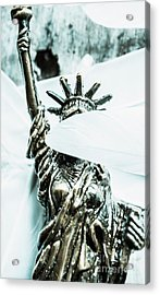 Liberty Blinded By Corruption Acrylic Print