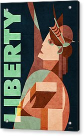 Liberty Acrylic Print by Daviz Industries