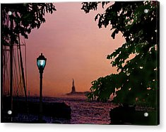 Acrylic Print featuring the digital art Liberty Fading Seascape by Steve Karol