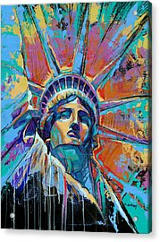 Liberty In Color Acrylic Print by Damon Gray
