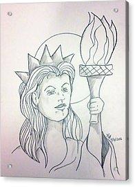 Liberty Acrylic Print by Loretta Nash