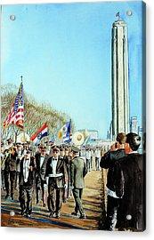 Liberty Memorial Kc Veterans Day 2001 Acrylic Print by Carolyn Coffey Wallace