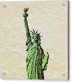 Liberty, Pop Art By Mb Acrylic Print