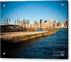 Liberty State Park Pier Acrylic Print