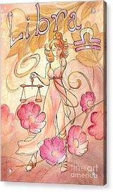 Libra Acrylic Print by Arwen De Lyon