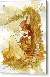 Librarian Acrylic Print by Brian Kesinger