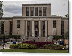 Library At Penn State University  Acrylic Print by John McGraw